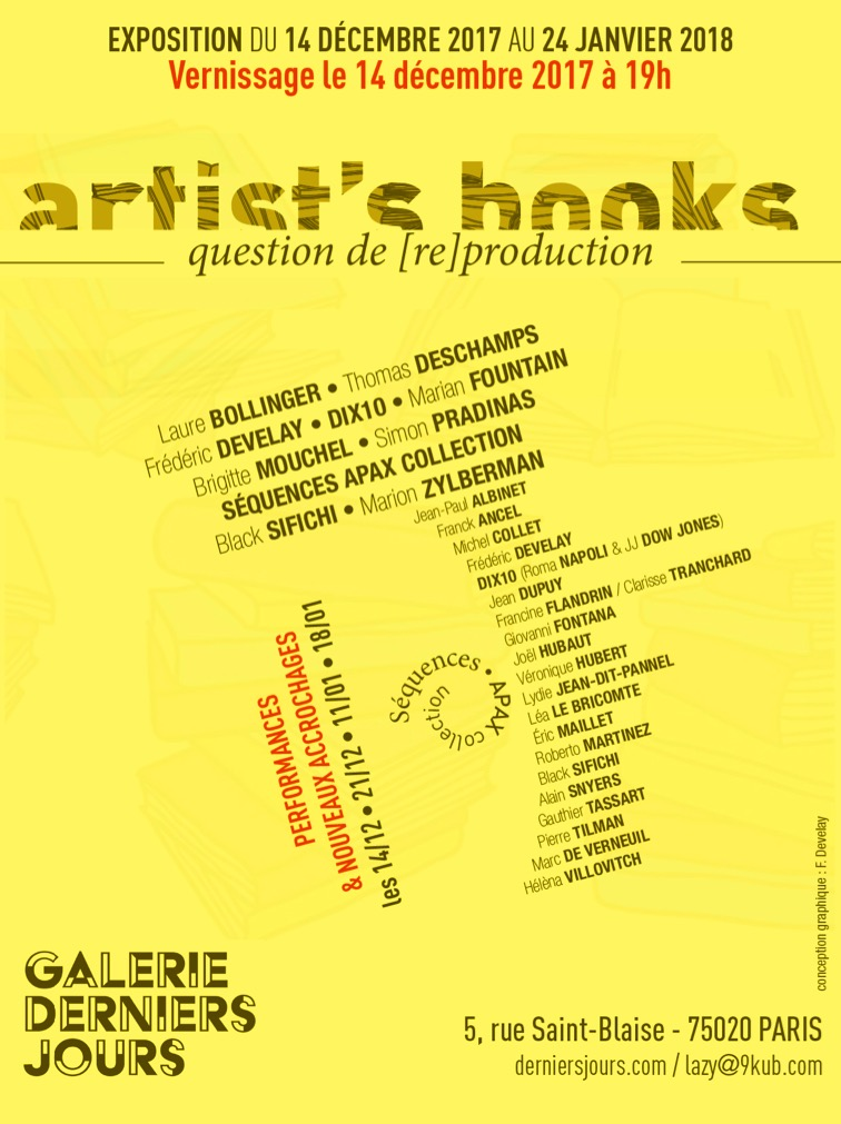 Artist's books flyer a6b